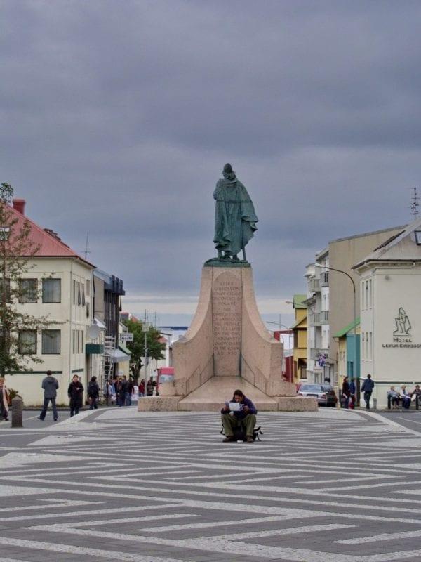Statue of Leifur Eiríksson in Reykjavík Iceland