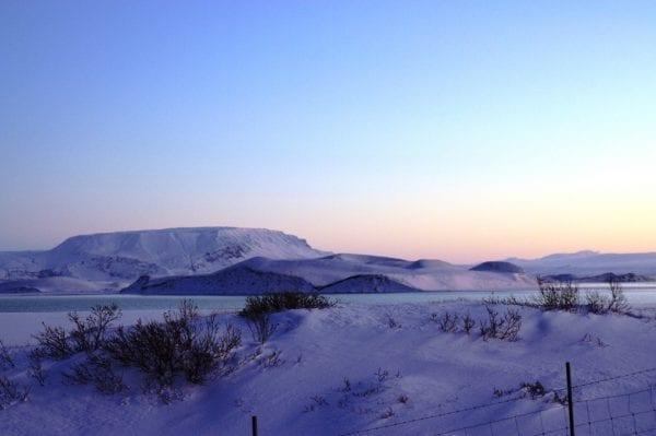 Lake Mývatn in North Iceland