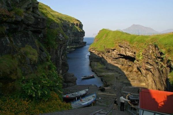 Gjogvin i Gjogv in the Faroe Islands