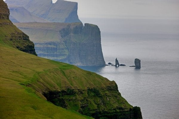 Cliffs in the Faroe Island