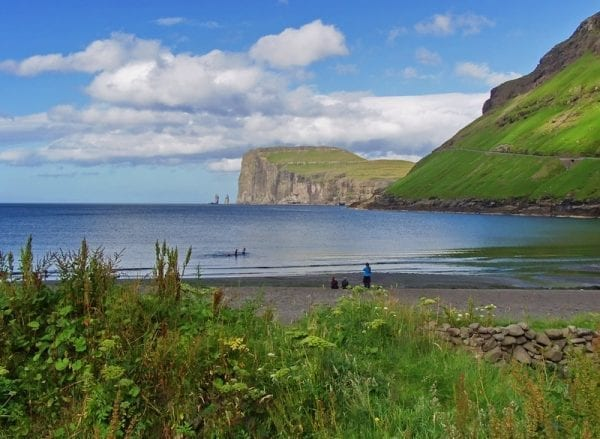 Tjornuvik in the Faroe Islands