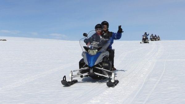 Snowmobile, Langjökull, Iceland