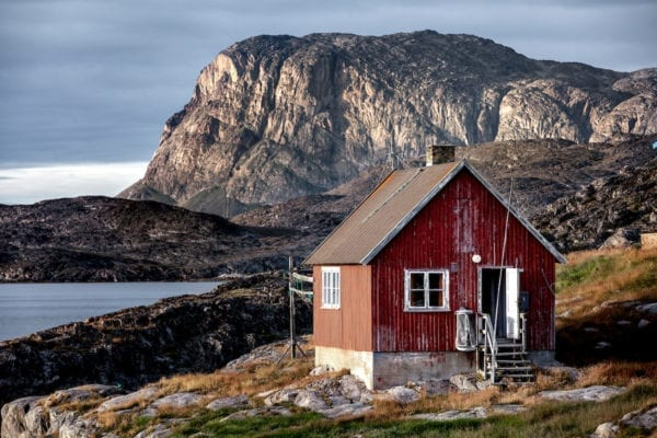 A house in Itilleq near Sisimiut in Greenland