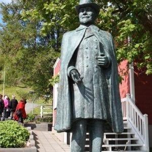 Nonni statue in Akureyri, Iceland