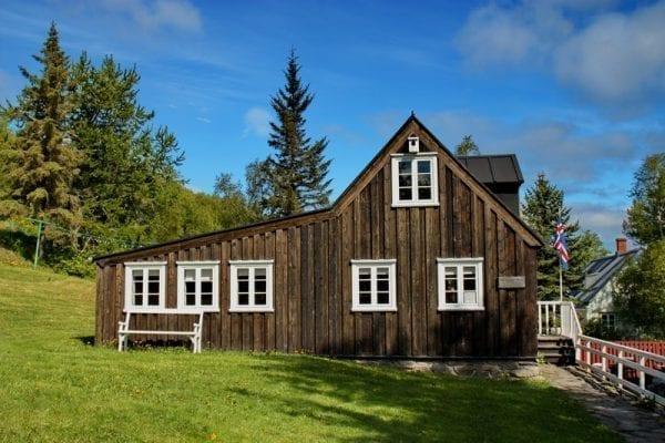 Nonnis house in Akureyri, Iceland, Nonnahús