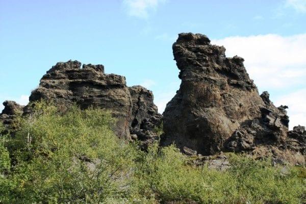 Dimmuborgir lava formations Iceland