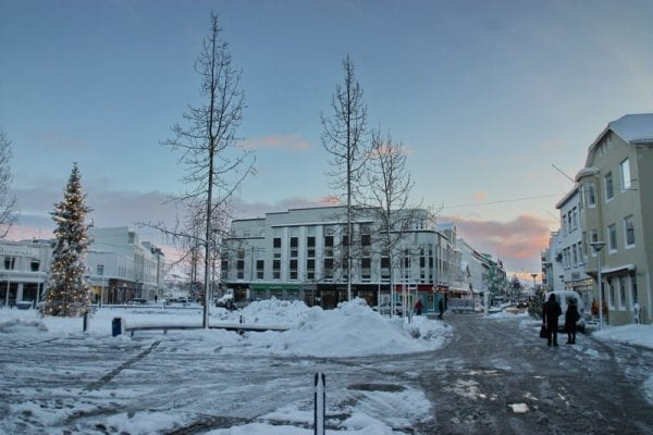 Iceland akureyri winter christmas