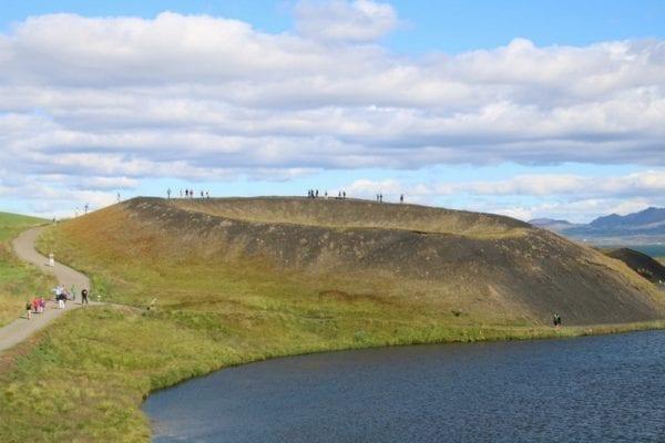 Skútustaðir Pseudo Craters Lake Mývatn in North Iceland