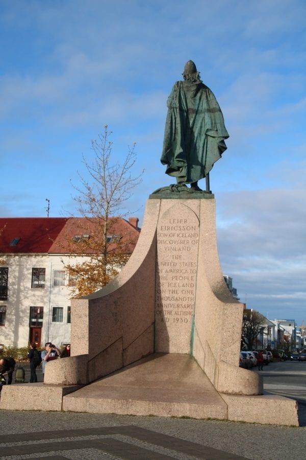 Leifur Eiríksson statue Reykjavík Iceland