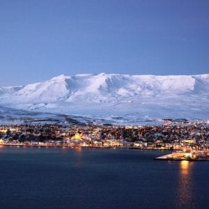 Iceland akureyri winter