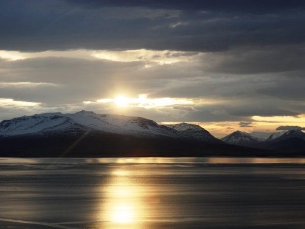 Iceland akureyri winter eyjafjordur