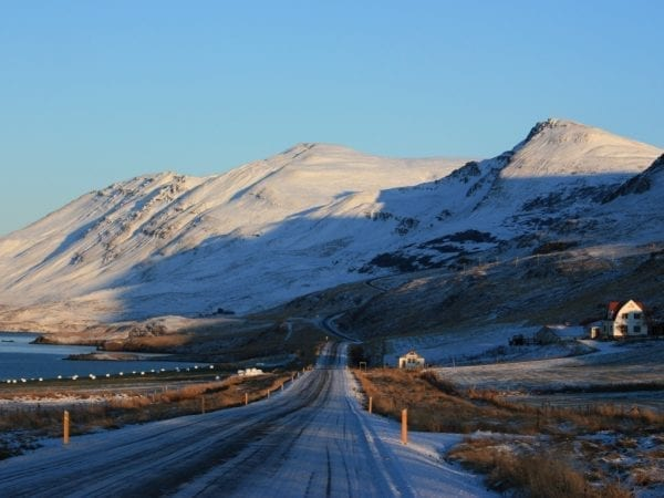 Iceland akureyri winter eyjafjordur self drive