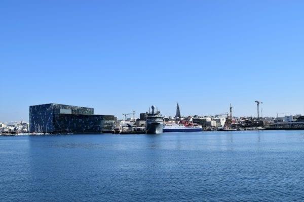 Harpa and Reykjavík harbour, Iceland