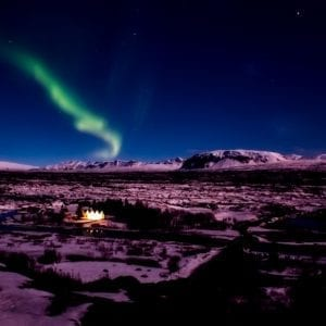 Northern lights, Iceland, Þingvellir, Aurora Boreal