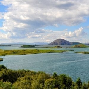 Lake Mývatn in North Iceland