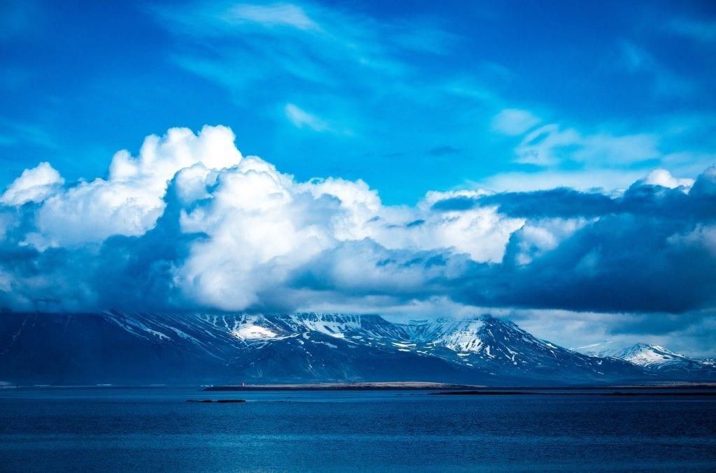On the Atlantic next to Reykjavik Iceland