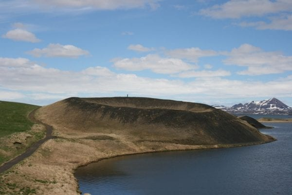 Skútustaðir pseudo craters Lake Mývatn Iceland