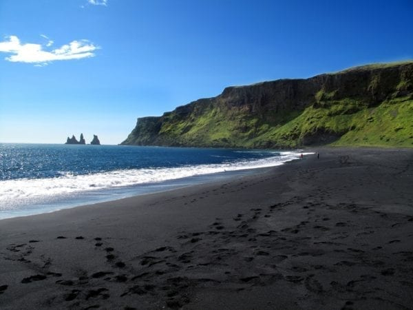 Vík í Mýrdal, South Iceland, Black sand beach