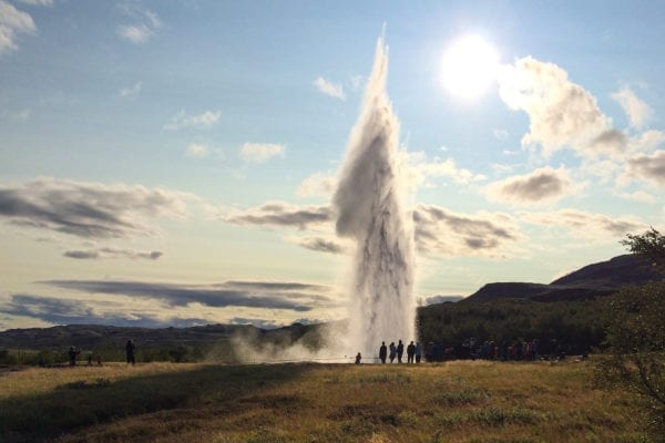 Iceland Geysir geothermal