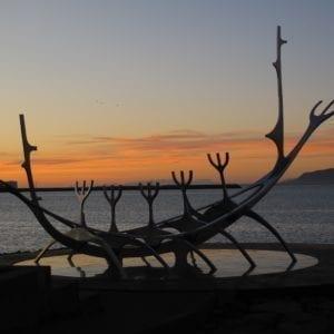 Iceland reykjavík sunset