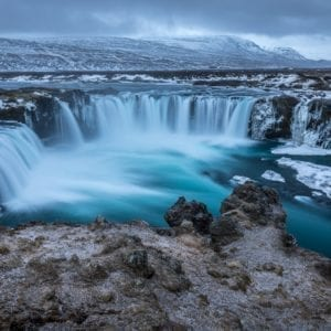 Iceland waterfall winter, Goðafoss