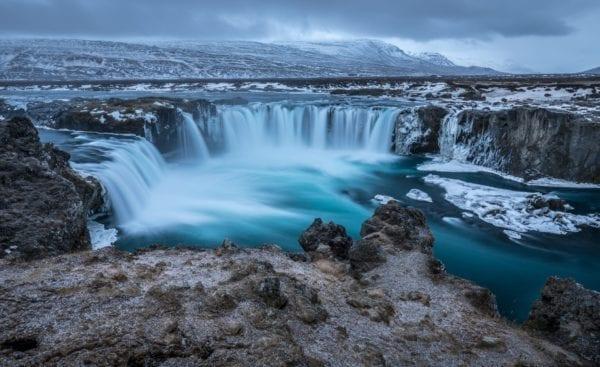 Iceland waterfall winter, Goðafoss