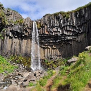 Iceland waterfall, Svartifoss