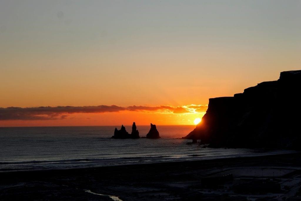 Iceland sunset, Reynisdrangar