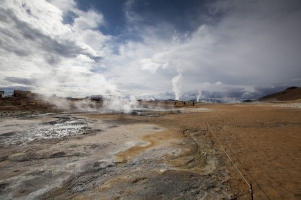Námaskarð Sulphur pits near Mývatn Iceland