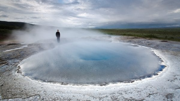 Geysir hot spring Iceland golden Circle