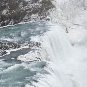 Gullfoss waterfall winter golden circle