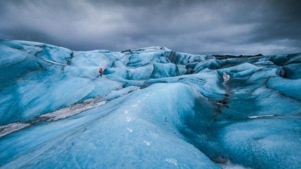 Glacier walk Iceland