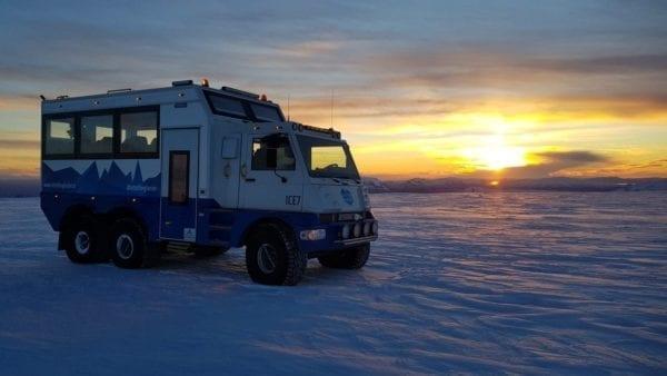 Glacier vehicle Langjökull glacier