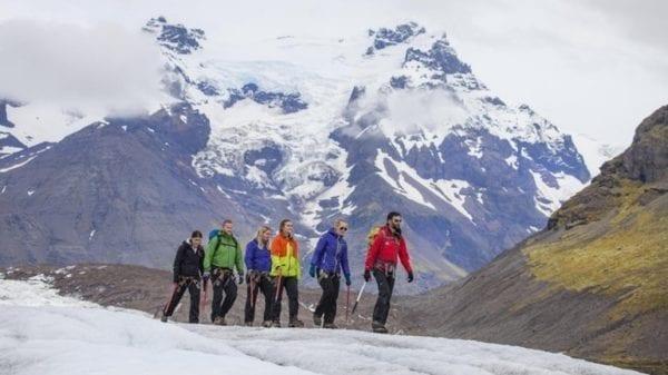 Galcier walk Iceland