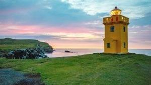 Lighthouse on Grímsey island