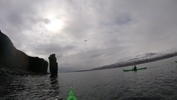 kayaking in Eyjafjörður