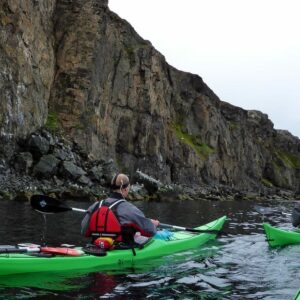 Kayaking in Eyjafjordur