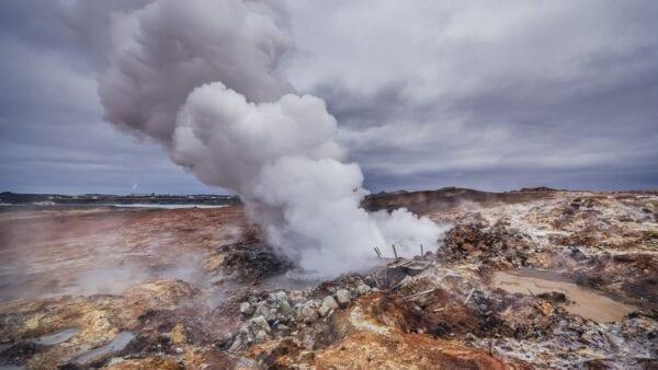 Gunnuhver hot spring Reykjanes