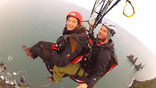 Paragliding tandem flight Vík