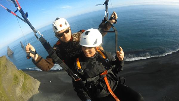 Paragliding south shore