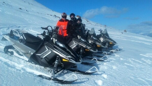 Snowmobile adventure in north Iceland