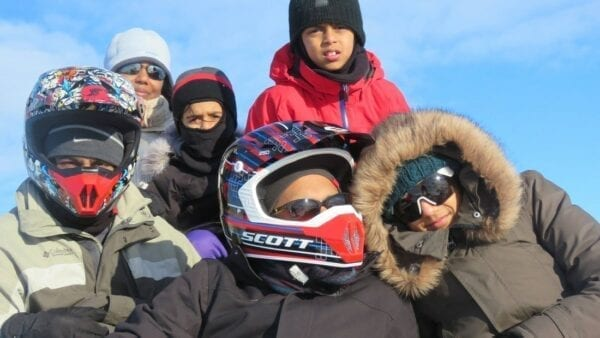 family fun snowmobile Akureyri